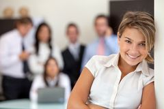 Business woman leading a team Royalty Free Stock Photos