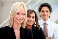 Business woman leading a team Royalty Free Stock Images