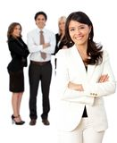 Business woman leading a team Royalty Free Stock Image