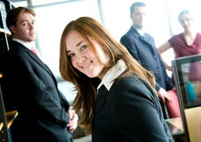 Business woman leading team Royalty Free Stock Images