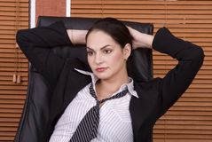 Business woman lean Stock Photos
