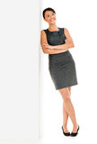 Business woman leaning on the wall Stock Photos