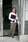 Business Woman Leaving Stock Photo