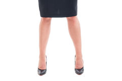 Business woman legs only Stock Photography