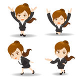 Business woman lift something Royalty Free Stock Image