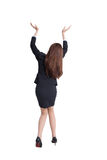 Business woman lift something Stock Photo