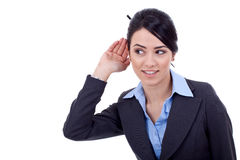 Business woman listening Royalty Free Stock Photos