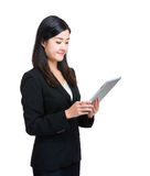 Business woman look at digital tablet Stock Images