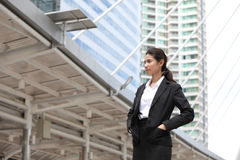 Business woman look something,Serious Royalty Free Stock Image