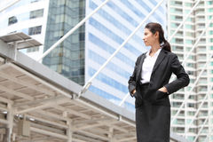 Business woman look something,Serious Stock Photography