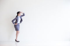 Business woman look something stock images
