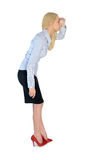 Business woman looking ahead Royalty Free Stock Photo