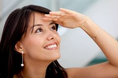 Business woman looking away Royalty Free Stock Images