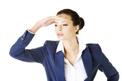 Business woman looking away Royalty Free Stock Photo