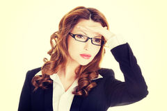 Business woman looking away into the future Stock Image
