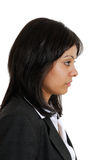 Business woman looking away in seriousness Stock Image