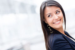 Business woman looking back Royalty Free Stock Image