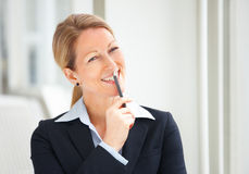 Business woman looking at copyspace Royalty Free Stock Images