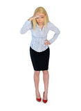 Business woman looking down Stock Images