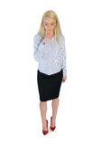 Business woman looking down Stock Photography