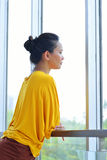 Business Woman Looking Outside Royalty Free Stock Image