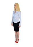 Business woman looking side Stock Images