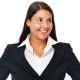 Business woman Looking sideways Stock Image