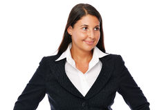 Business woman Looking sideways Royalty Free Stock Photos