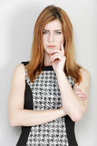 Business woman looking stern Stock Photography