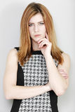 Business woman looking stern Royalty Free Stock Photo