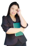 Business woman looking stressed. Royalty Free Stock Photos