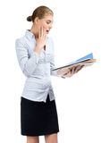 Business woman looking surprised Royalty Free Stock Photography