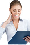 Business woman looking surprised Royalty Free Stock Images