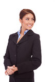 Business woman looking to the side. Isolated over a white background Royalty Free Stock Photography