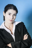 Business woman looking unpleased Royalty Free Stock Photography
