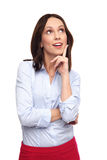 Business woman looking up Royalty Free Stock Photo