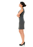 Business woman looking up Royalty Free Stock Images