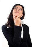 Business woman looking up thoughtfully Royalty Free Stock Photo