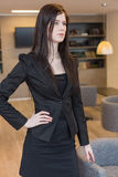 Business woman looks into the distance Stock Image