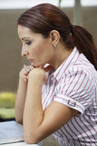 Business Woman Lost In Thoughts Stock Images