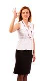 Business woman  make ok gesture Stock Photo