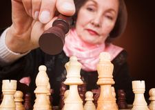 Business woman - make the right move Royalty Free Stock Photography