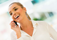 Business woman making a call Royalty Free Stock Photography