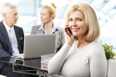 Business woman making call Stock Images