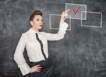 Business woman making choice Royalty Free Stock Photography