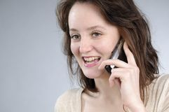 Business woman making conversation Royalty Free Stock Photography
