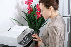 Business Woman Making Copies Royalty Free Stock Photography