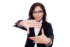 Business woman making a hand frame Stock Photo