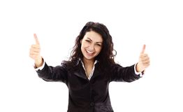 business woman making ok sign Stock Images