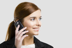 Business woman making phone call Royalty Free Stock Photography